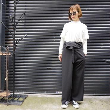 予約終了▶thomas magpie thai pants black
