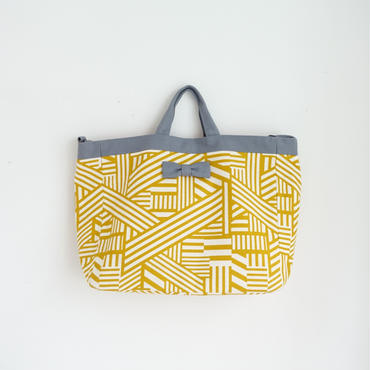adjust tadjust strap tote geometric yellow