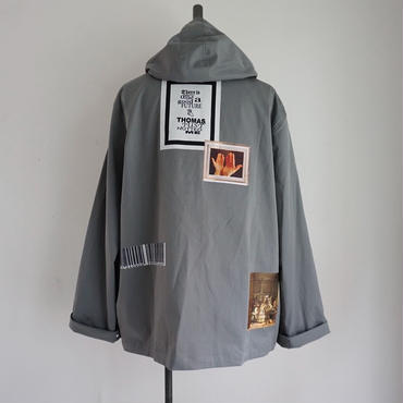 【予約終了】thomas magpie hooded coach jacket gray