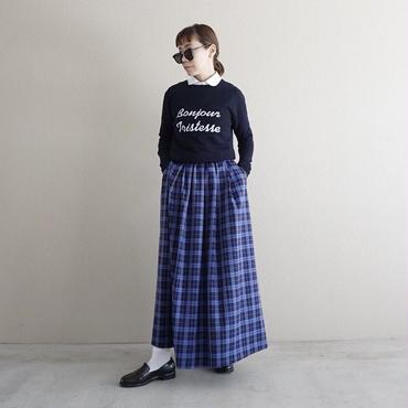 【予約終了】thomas magpie tartan check long skirt blue