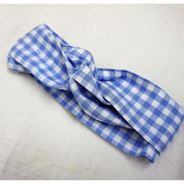 hesd dress gingham blue
