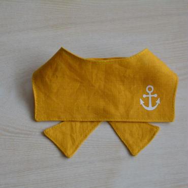 リネンマリン襟SS-M黄色(クールポケット付き)