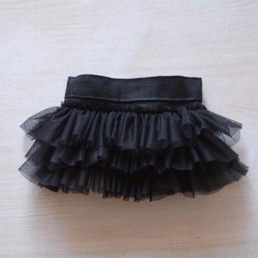 フリルスカート 黒