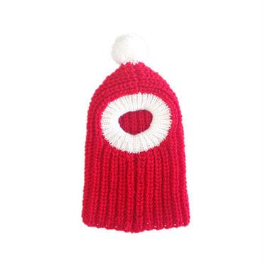 犬のクリスマスニット帽Ⅱ(手編み)