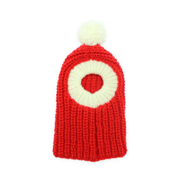 犬のクリスマスニット帽Ⅱ(手編み)(S)