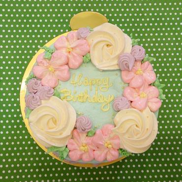 フラワーデコレーションケーキ☆メッセージ名入れ無料☆