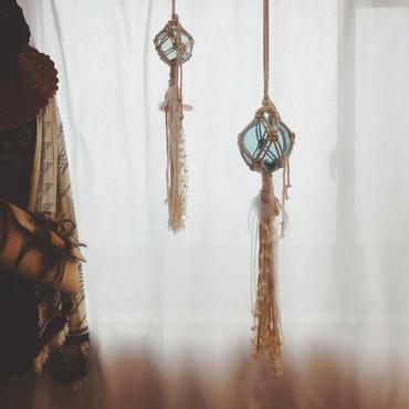 Glass float ornament 10㎝