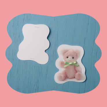 Zaza Bearポストカード/pink