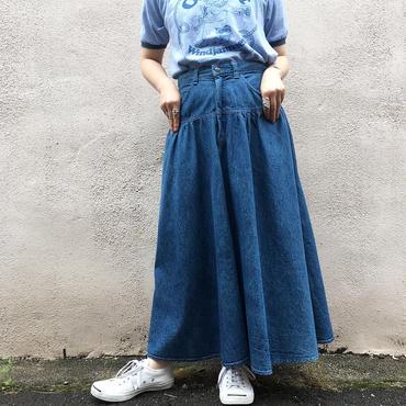 USA製 デニムフレアスカート