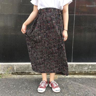 USA製 ブラック 総柄スカート