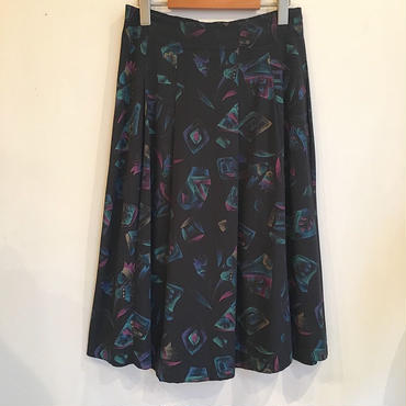 USA製ブラック総柄スカート