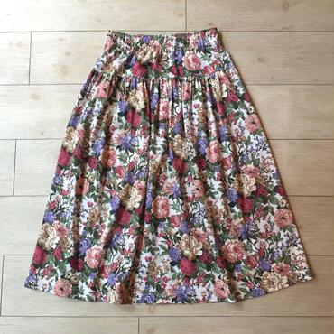 USA製お花プリントスカート