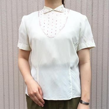 50's〜 刺繍 半袖ブラウス