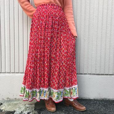 インド綿フラワースカート