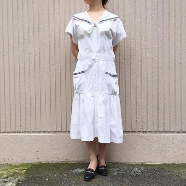 ホワイト セーラー襟  ワンピース