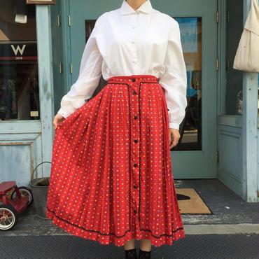 vintage 1950's レッド チロル風スカート