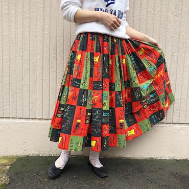 50's民族柄 サーキュラースカート