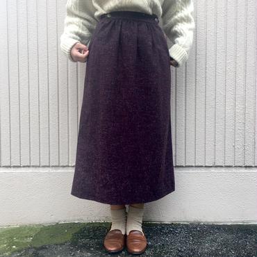 ダークパープル台形ロングスカート