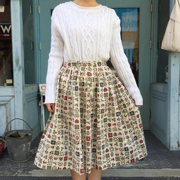 vintage 1950's  カントリー柄スカート