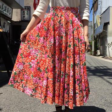 vintage 1950年代お花柄サーキュラースカート