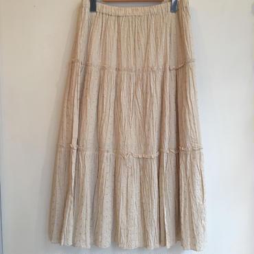 フラワー刺繍ティアードスカート