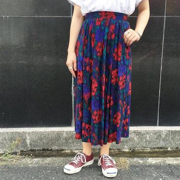 USA製 花柄風 総柄スカート