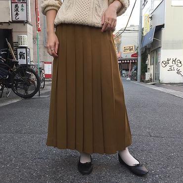 U.S.A製 テラコッタブラウン プリーツスカート