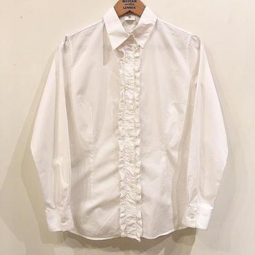 ホワイト レースシャツ