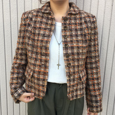 ブラウン×オレンジツイードジャケット