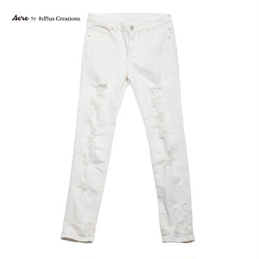 DAMAGE WHITE SLIM FIT 047