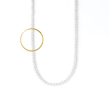 ATTACHMENT NECKLACE WITH PARTS CIRCLE L