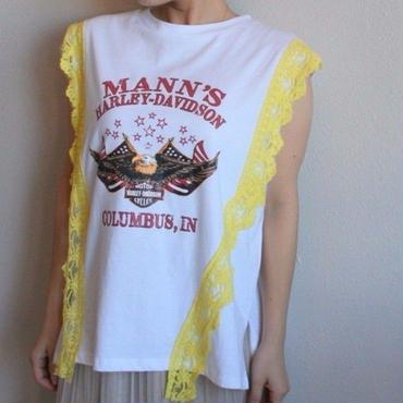 レースヴィンテージ風Tシャツ