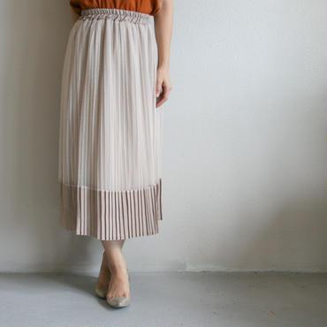 異素材シアープリーツスカート