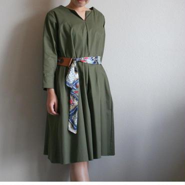スカーフベルトシャツドレス