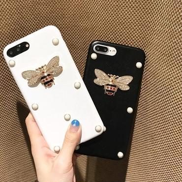 【オーダー商品】ビジューパールビーケース i phone7,7plus,6,6s,6plus,6splus