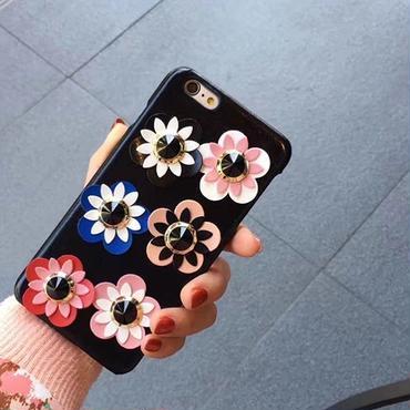 【オーダー商品】カラフルフラワーケース i phone7,7plus,6,6s,6plus,6splus