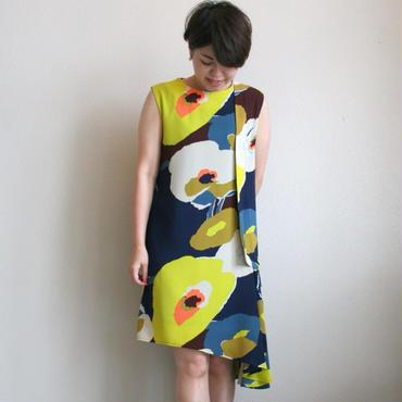 フラワーアシンメトリードレス