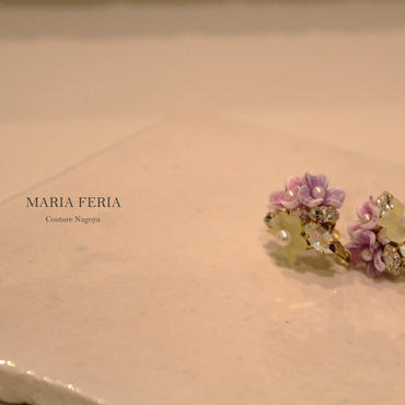 3Colors Flower Bijou Earrings【TFカラフルER】