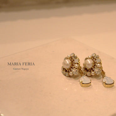 Bijou Pearl Drop Earrings【BPホワイトER】