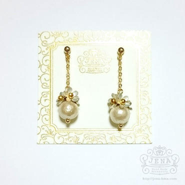 The daily life flowers 【with pearl】 イヤリング/ピアス
