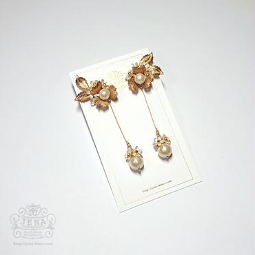 Sweet alyssum イヤリング/ピアス