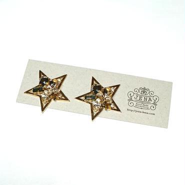 ☆Brilliant Stars☆ イヤリング/ピアス 【グレー】