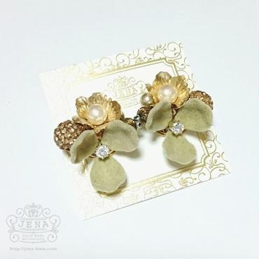 Velvet Flower series 【beige】