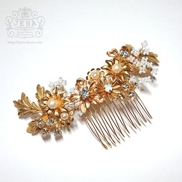 Antique brass Flowers  Hair accessory 2
