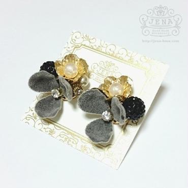 Velvet Flower series 【gray】