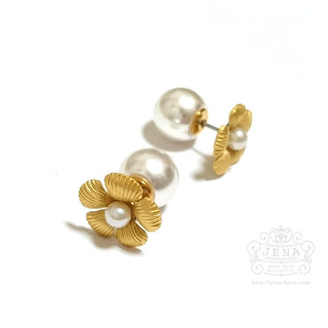 Antique petal ピアス (パールキャッチ)