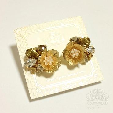 FLORA 【Gold ×Metallic】 イヤリング/ピアス