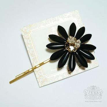 BIG Flower Pin BLACK