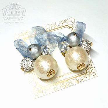 Organdy Pearl イヤリング/ピアス  【Pearl】