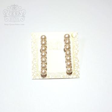Simple cottonpearl stick 6mm イヤリング/ピアス